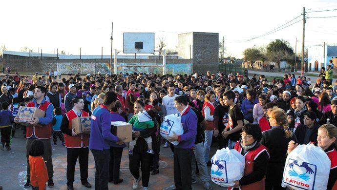 Más de 3 toneladas de alimentos entregadas en el barrio Toba de Rosario