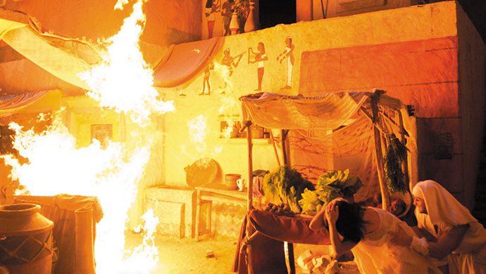 Egipto bajo fuego: La plaga de granizo