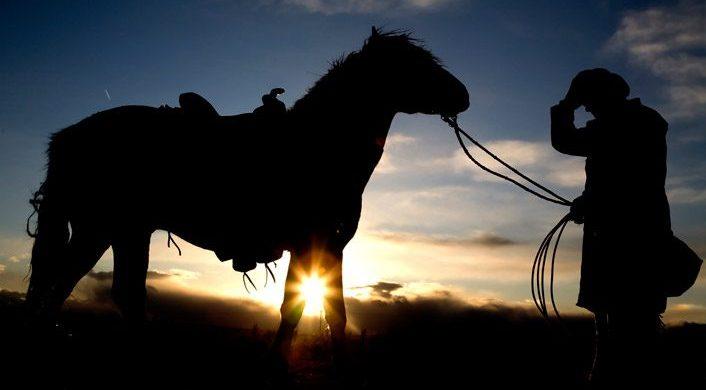 Tirando el caballo