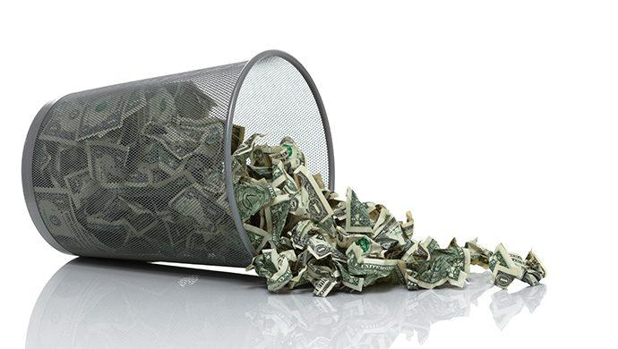 No desperdicie su dinero