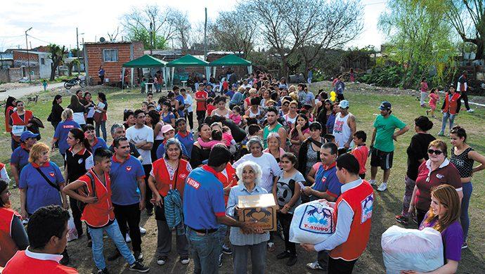 T-Ayudo en Solano: alimentos y ropa para los más necesitados