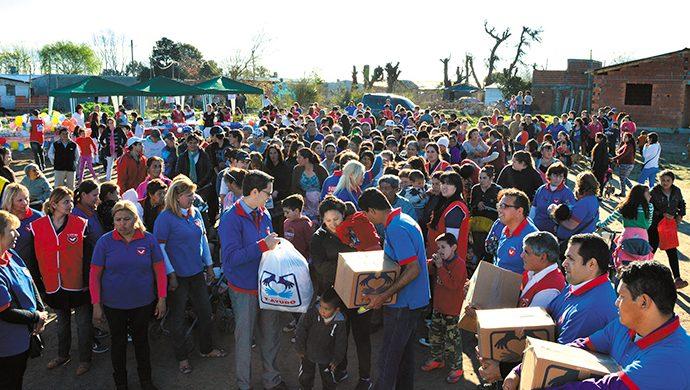 T-Ayudo en Escobar: 2,5 toneladas de alimentos donados