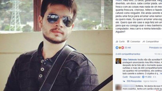 Una madre anuncia a su hijo en una red social para librarlo de la soltería