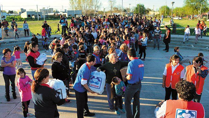 Megaevento solidario en Chivilcoy: 4 toneladas de alimentos donados