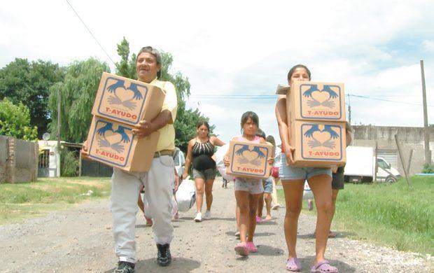 Más de 6 toneladas para las familias que fueron víctimas de las inundaciones