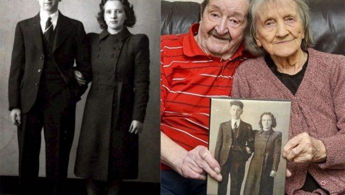 Ellos se conocieron en un refugio durante la 2° Guerra Mundial