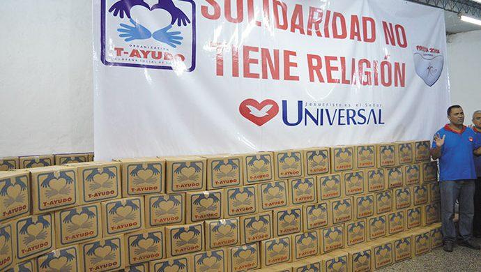 T-Ayudo visitó La Cava y entregó más de 3,5 toneladas de alimentos y 7890 prendas de ropa