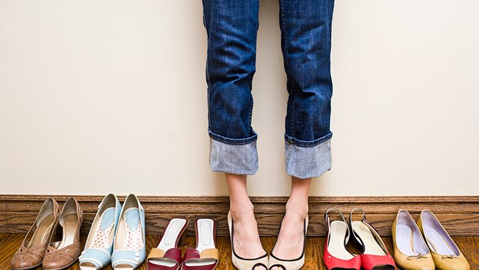 Zapatos siempre conservados