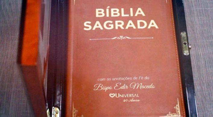 Biblia Sagrada con las anotaciones de fe del Obispo Macedo