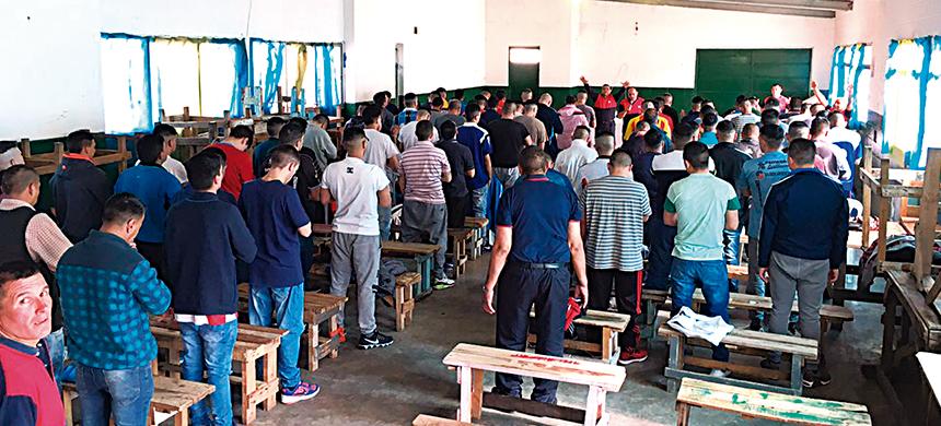 La UEC realizó un bautismo en la Unidad  40 de Lomas de Zamora