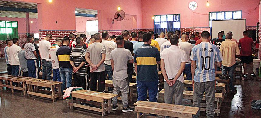 Bautismo en la Unidad Nº24 de Florencio Varela
