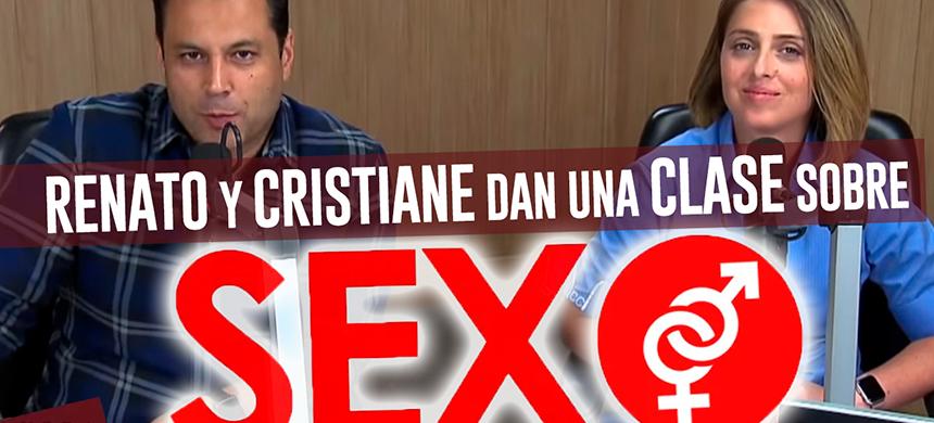 Renato y Cristiane dan una charla sobre sexo