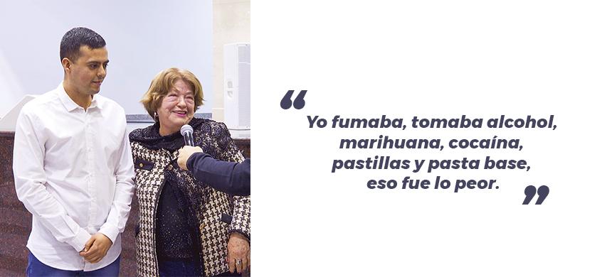 """""""Con las drogas toqué fondo"""""""