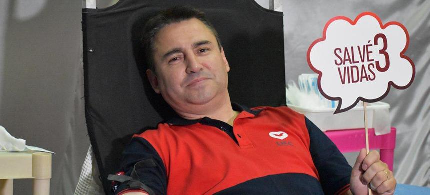 Donación de sangre en el Microcentro porteño
