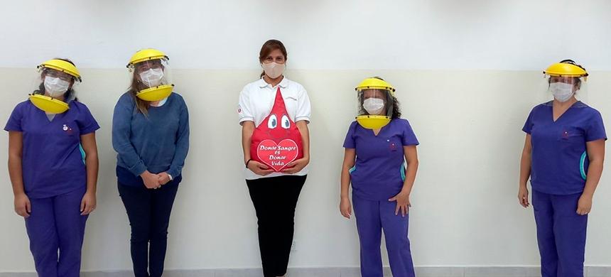Campaña de donación de sangre en Caleta Olivia, San Juan, Mar del Plata y Florencio Varela