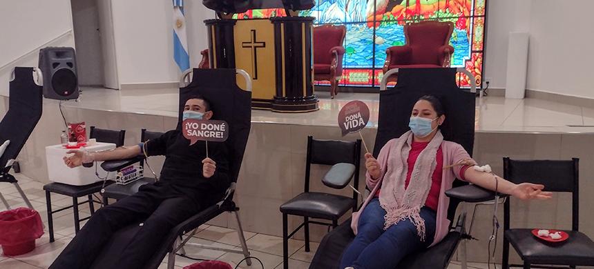 Campaña de donación de sangre en San Rafael, Mendoza